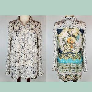 ARATTA SILENT JOURNEY Long Floral Buttoned Blouse